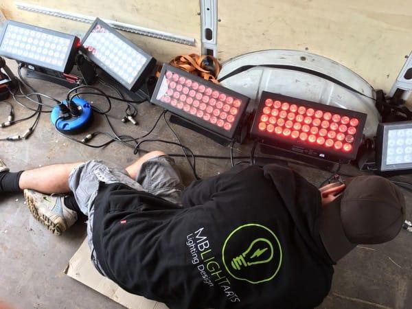 Beim Einstellen der SGM P5 LED Lampen
