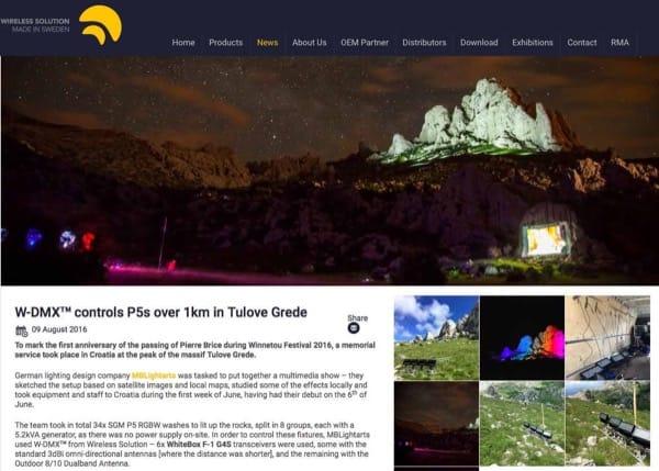 Bericht über Tulove Grede auf WDMX Homepage