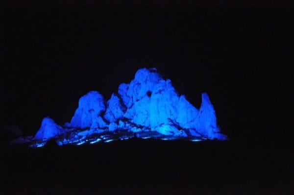 Beleuchtung Berg in Kroatien mit Lichttechnik